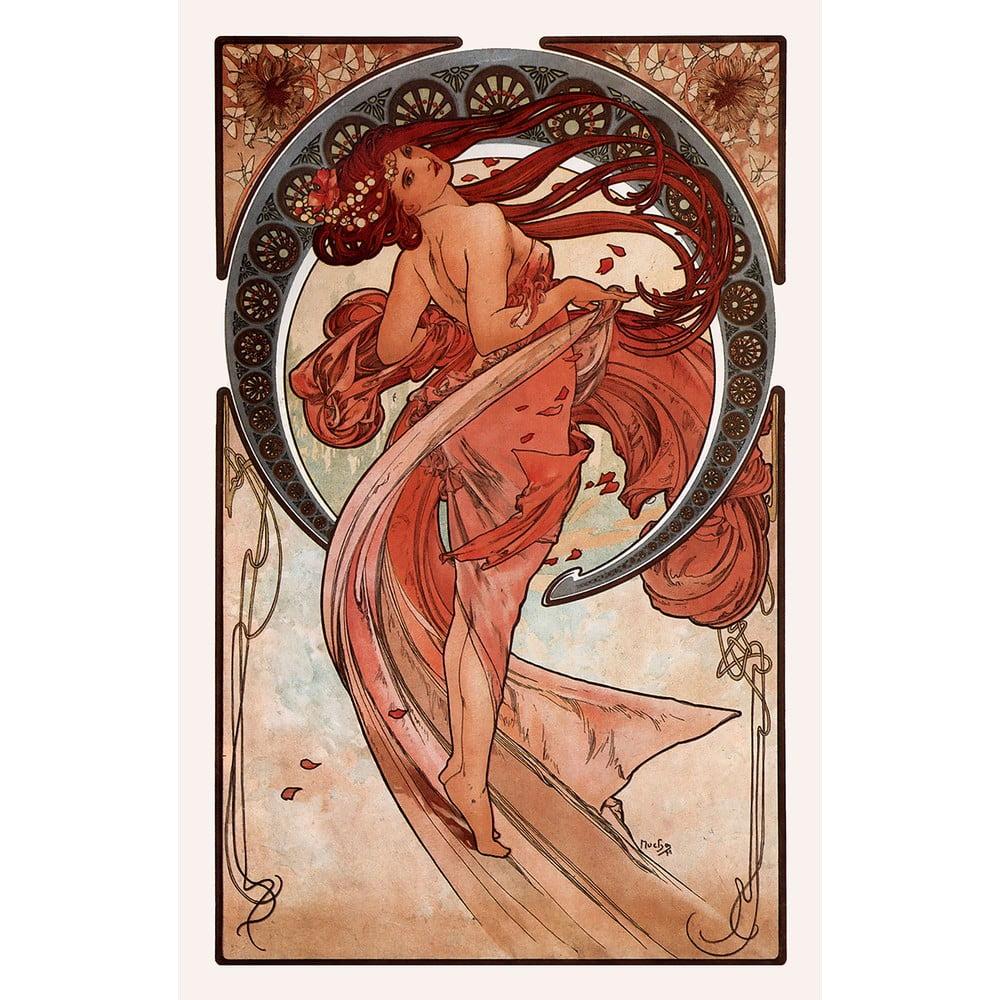 Reprodukcia obrazu Alfons Mucha - Dance, 40 × 60 cm