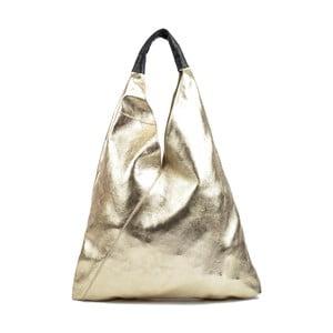 Kožená kabelka v zlatej farbe Isabella Rhea Beata