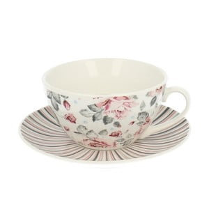 Porcelánová šálka s tanierikom Duo Gift Roses, 300 ml