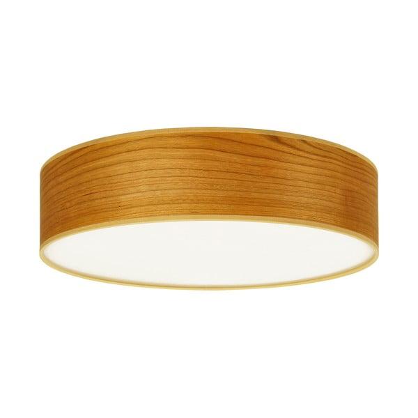 Stropné svietidlo z prírodnej dyhy vofarbe čerešňového dreva Sotto Luce TSURI, Ø40 cm