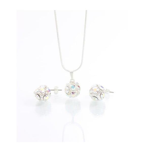 Set náhrdelníka a náušníc so Swarovski krištáľmi Yasmine Multi