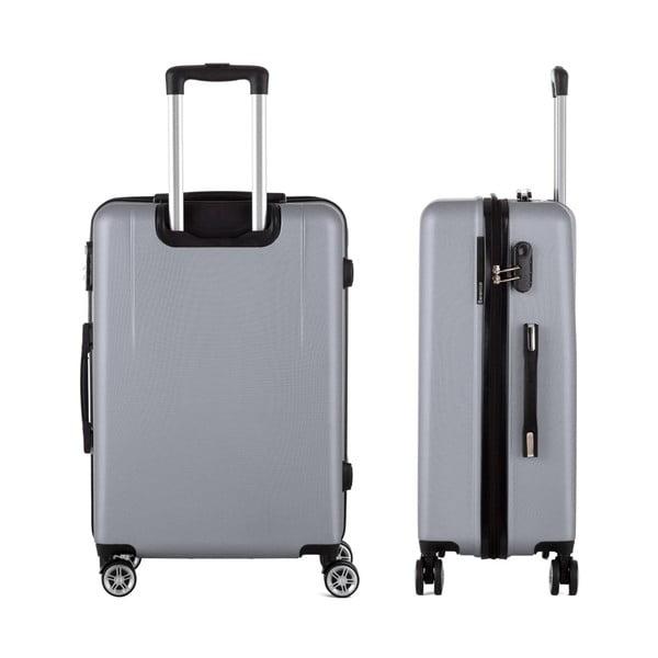 Sivý cestovný kufor Berenice Wings, 71 l