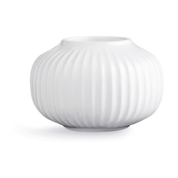 Biely porcelánový svietnik na čajové sviečky Kähler Design Hammershoi, ⌀ 10 cm