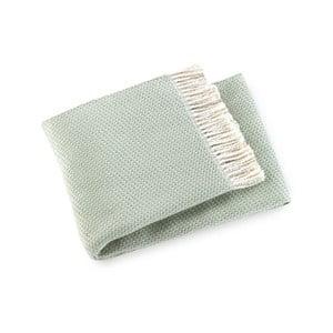 Mátově zelený pléd s podílem bavlny Euromant Ruby, 140x180cm