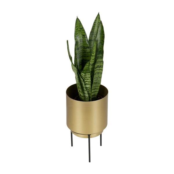 Kvetináč zlatej farby WOOOD, Ø 13cm