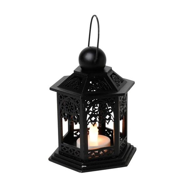 LED lampáš Christmas 13 cm, čierna