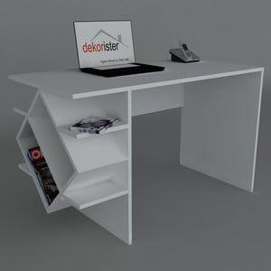 Pracovný stôl Barok White, 60x120x73,8 cm