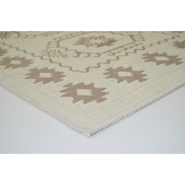 Béžový odolný koberec Vitaus Dahlia, 80x200cm