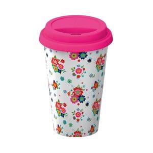 Porcelánový cestovný hrnček Creative Tops Floral, 350 ml