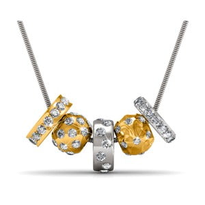 Pozlátený náhrdelník s krištáľmi Swarovski Musaventura Verano