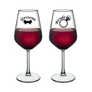Sada 2 pohárov na víno Vivas Bride & Groom Dos, 345 cm
