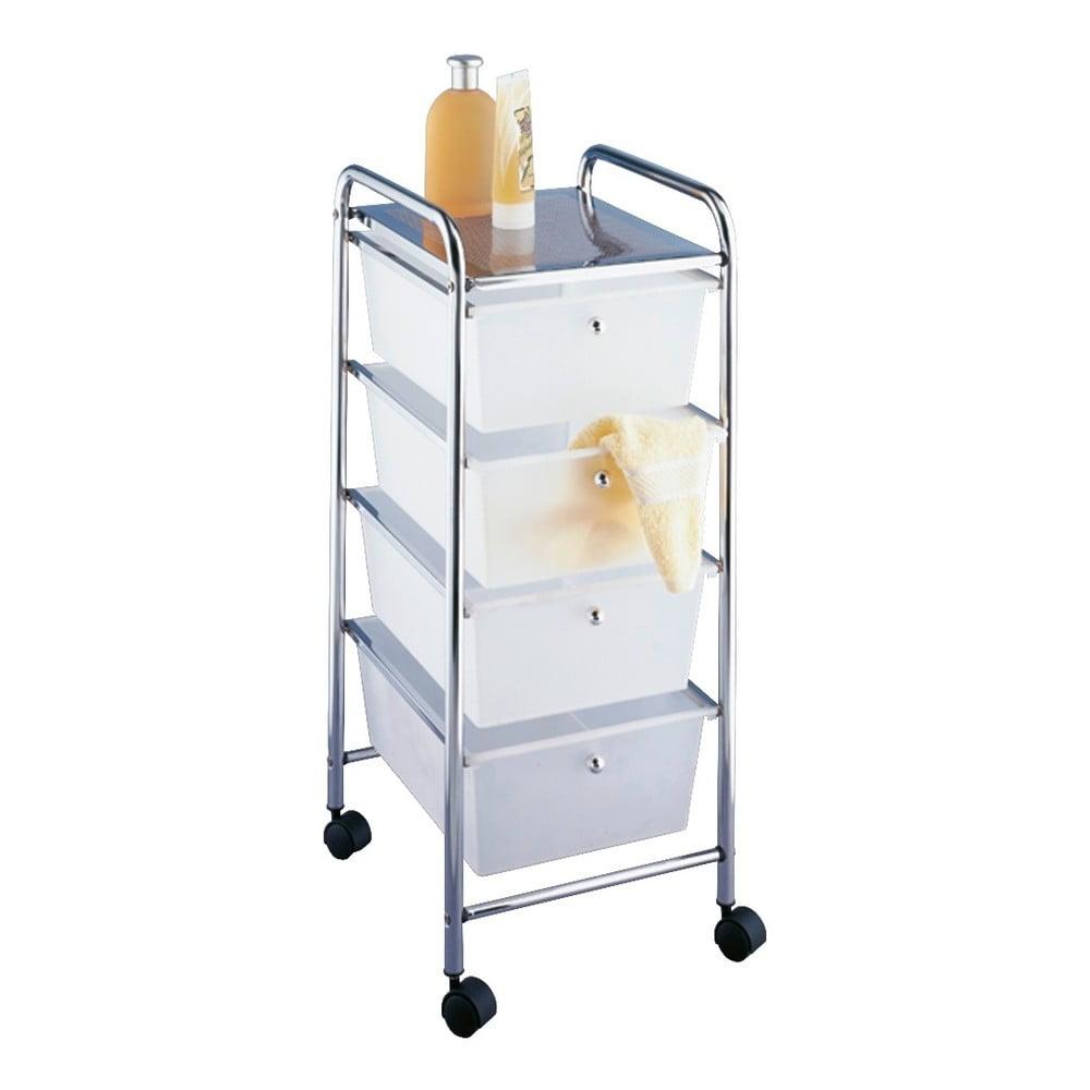Pojazdný kúpeľňový regál so 4 zásuvkami Wenko Messina