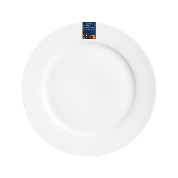 Biely dezertný tanier z porcelánu Price&Kensington Simplicity, Ø 19 cm