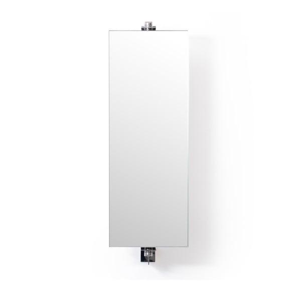 Otočné zrkadlo s úložným priestorom Wireworks Mezza Dark, výška 71cm