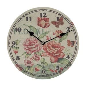 Nástenné hodiny Floral, 29 cm