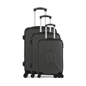 Sada 3 tmavosivých cestovných kufrov na kolieskach VERTIGO Cadenas Integre Moues