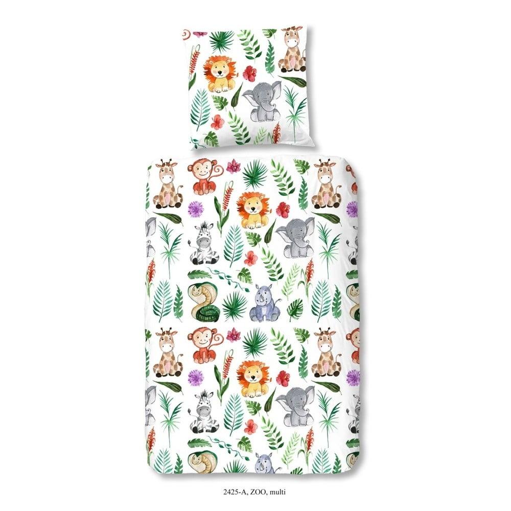 Detské bavlnené obliečky Good Morning ZOO, 140 × 200 cm