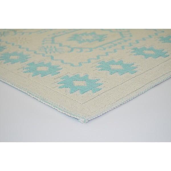 Modrý odolný koberec Vitaus Dahlia, 140x200cm