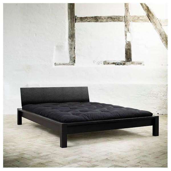Posteľ Karup Tami Leather Black / Black leather