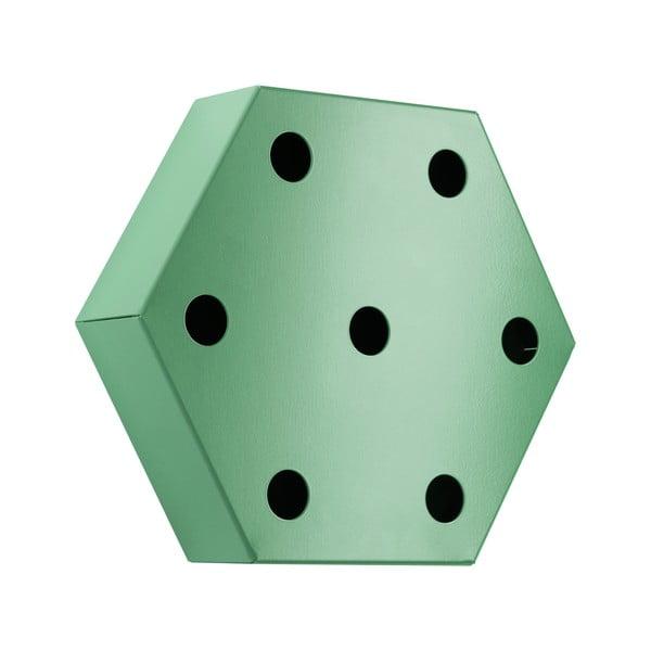 Stojan na víno Hexagon, zelený