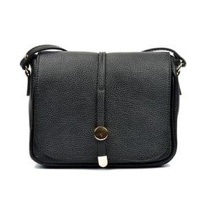Čierna kožená kabelka Renata Corsi Reina