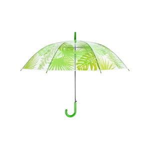 Transparentný dáždnik s potlačou listov Ego Dekor, ⌀ 100 cm