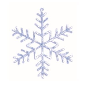 Svietiaca hviezda Snowflake Ø80 cm