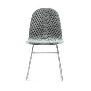 Sivá stolička s kovovými nohami IKER Mannequin V Wave