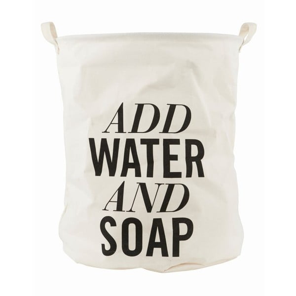 Plátený kôš na bielizeň House Doctor Add Water and Soap