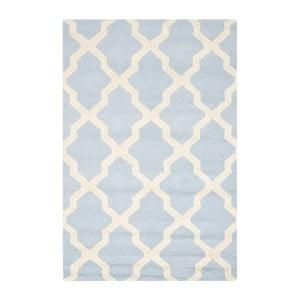 Vlnený koberec Ava Baby Blue, 91x152 cm