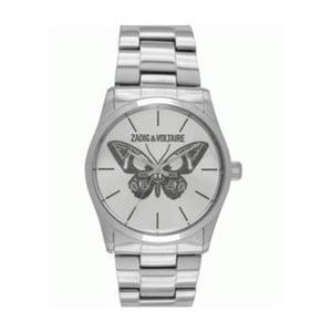 Dámske hodinky striebornej farby s motívom motýľa Zadig & Voltaire