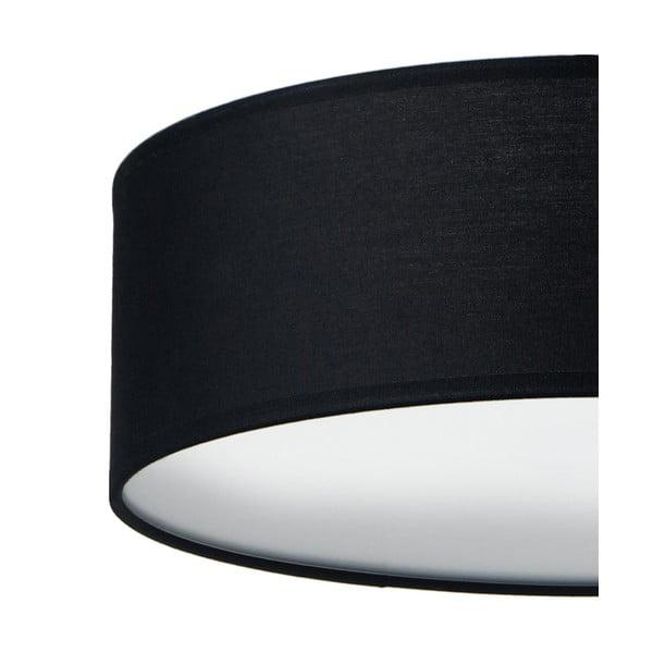 Čierne stropné svietidlo Sotto Luce MIKA, Ø 30 cm