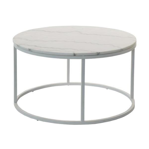Mramorový odkladací stolík so sivou konštrukciou RGE Accent, ⌀ 85 cm