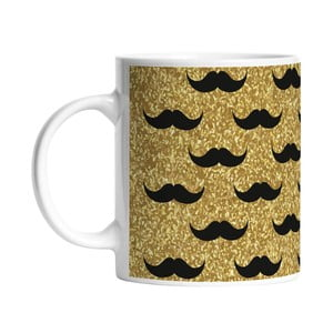 Hrnček Black Shake Set of Moustaches, 330 ml