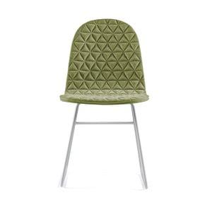 Svetlozelená stolička s kovovými nohami IKER Mannequin V Triangle