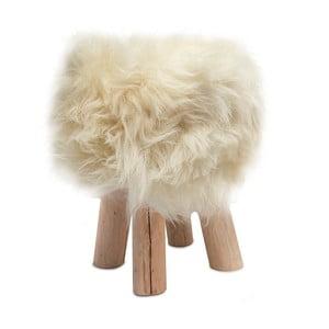 Stolička s bielou kožušinou Sheepo