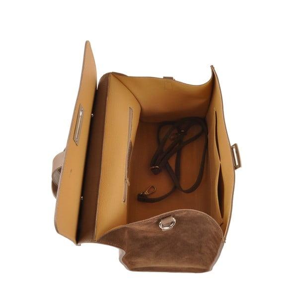 Kožená kabelka Pau, hnedá