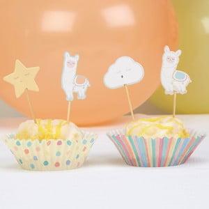 Sada 20 papierových košíkov na tortičky Neviti Llama Love