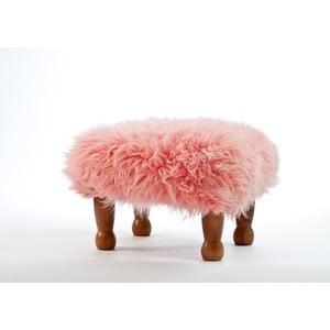 Stolička z ovčej kože Anwen Pink