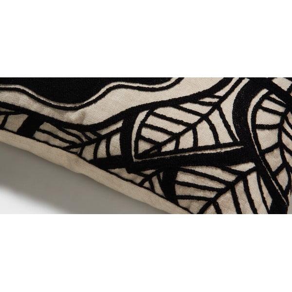 Čierny vankúš La Forma Minimal, 45x45 cm