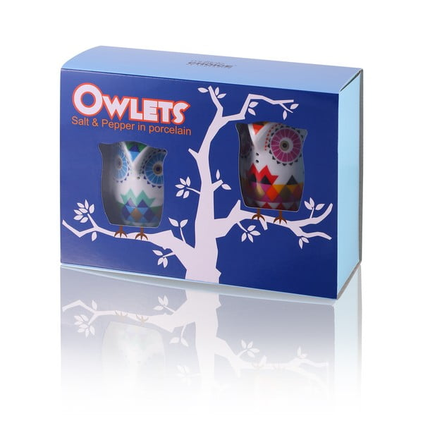 Soľnička a korenička Owl