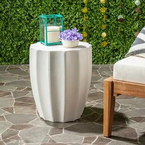 Biely betónový záhradný stolík vhodný do exteriéru Safavieh Akira