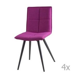 Sada 4 ružových jedálenských stoličiek sømcasa Zoe