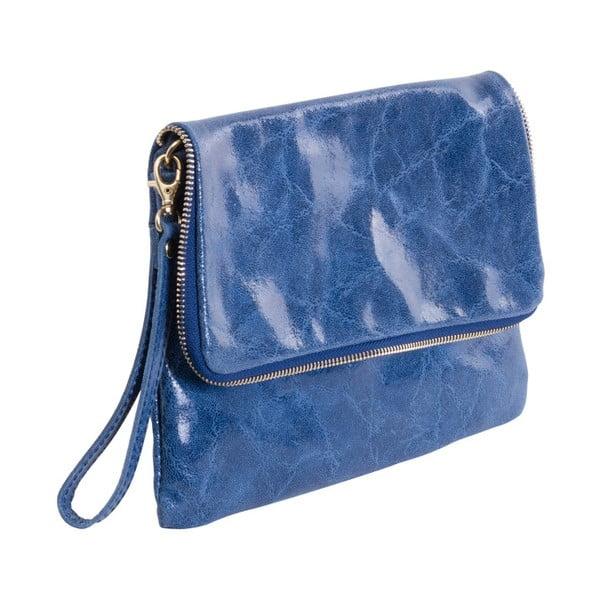 Modrá kabelka z pravej kože Andrea Cardone Fiore
