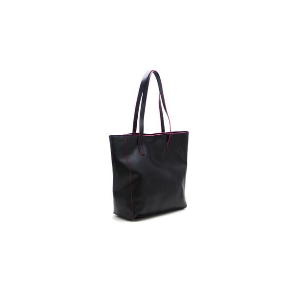 Kožená kabelka Cervo Black/Fuchsia