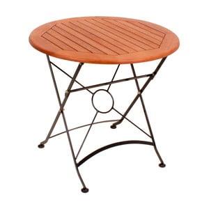 Záhradný skladací stôl z eukalyptového dreva ADDU Vienna, ⌀ 80 cm