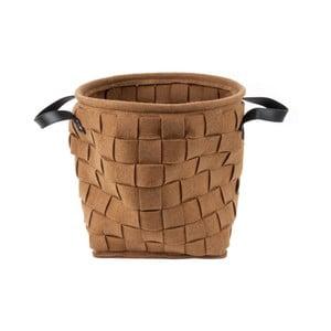 Hnedý úložný košík s úchytmi Present Time Storage Bag