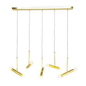 Stropné svietidlo v zlatej farbe Kare Design Cluster Cinque