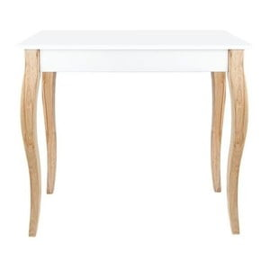 Odkladací konzolový stolík Dressing Table 85x74cm, biely