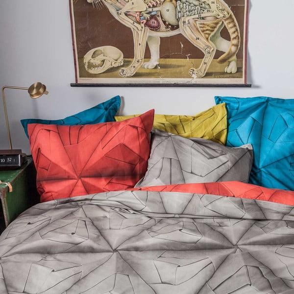 Červeno-hnedé obliečky Snurk Monogami, 140x200 cm